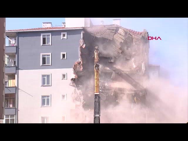 Kartal'da ikinci binanın yıkımına başlandı