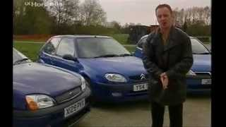 Ford Fiesta Zetec S, Vauxhall corsa SRi and Saxo VTS Review Part 1