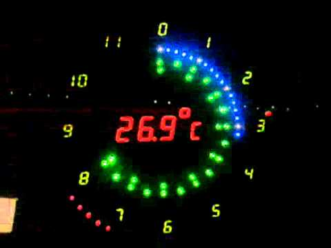 Led Analog Clock On Atmega8 Youtube