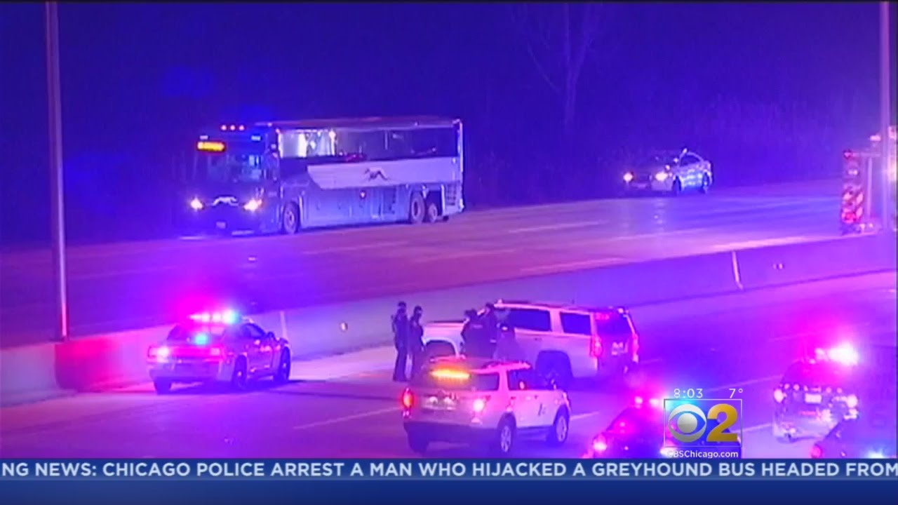Greyhound Bus 'Hijacked,' Police Close In