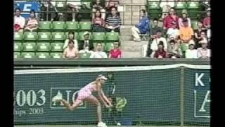 Maria Sharapova vs Claudine Schaul 2003 Tokyo QF Part 4