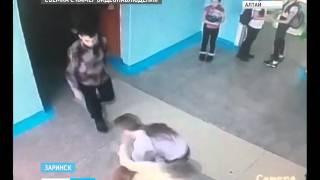 Камеры видеонаблюдения зафиксировали ЧП в заринской школе, где собака покусала детей