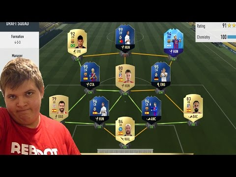 191 RATED SQUAD !!! FIFA 17 DRAFT
