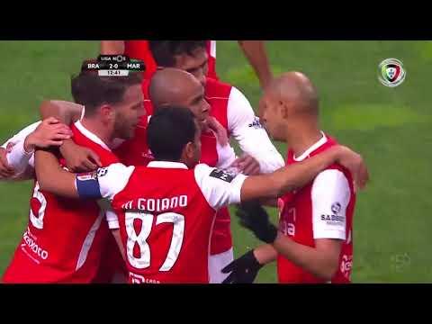 Goal | Golo Wilson Eduardo: Sp. Braga (2)-0 Marítimo (Liga 18/19 #15)