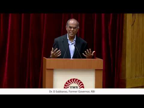 Dr D Subbarao in conversation with  P. Chidambaram at IIM Bangalore