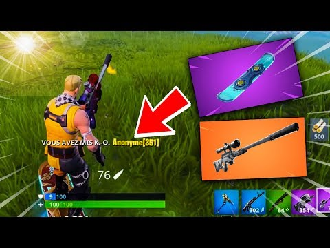 J'AI REUSSI MON PREMIER KILL AU SNIPER SUR UN HOVERBOARD !! Fortnite Battle Royale
