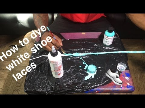 DIY HOW TO DYE WHITE SHOE LACES