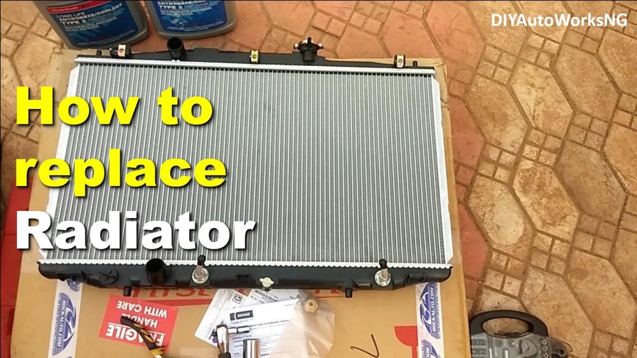 radiator replacement on 2003 to 2007 honda accord youtube honda accord radiator schematic [ 1280 x 720 Pixel ]