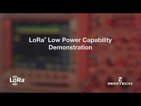 LoRa Low Power Capability Demonstration