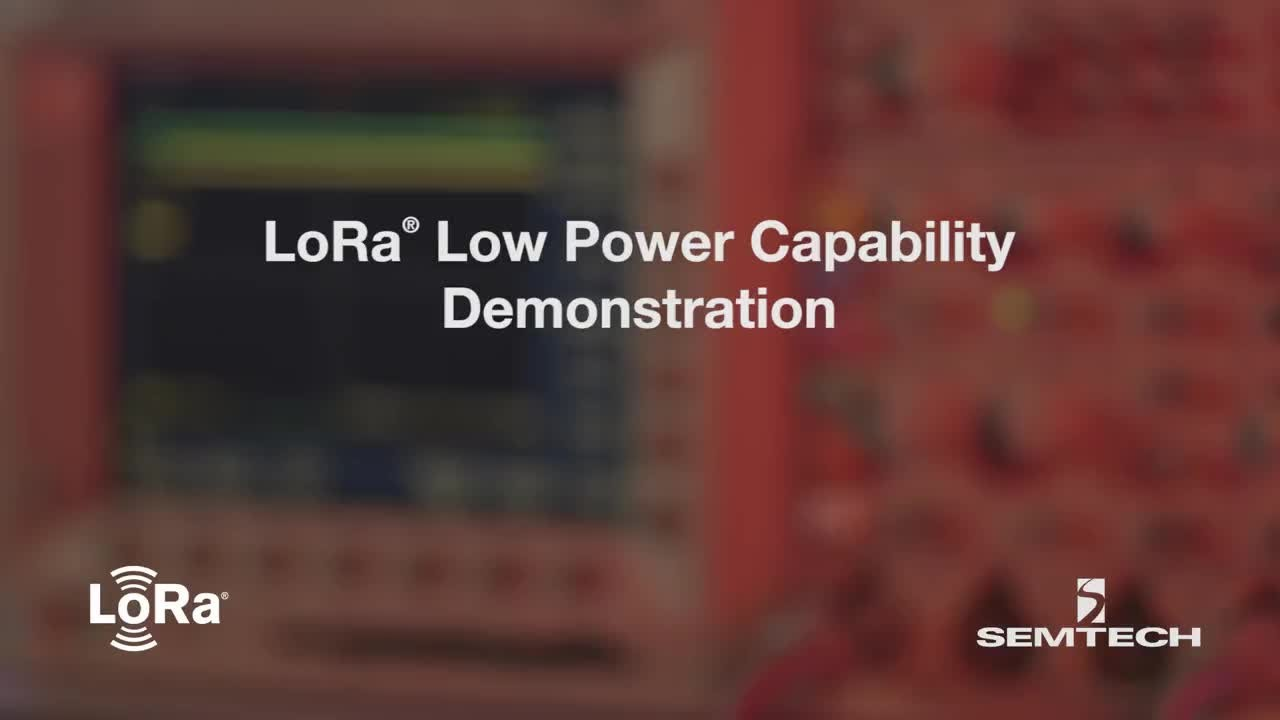 LoRa Low Power Capability Demonstration