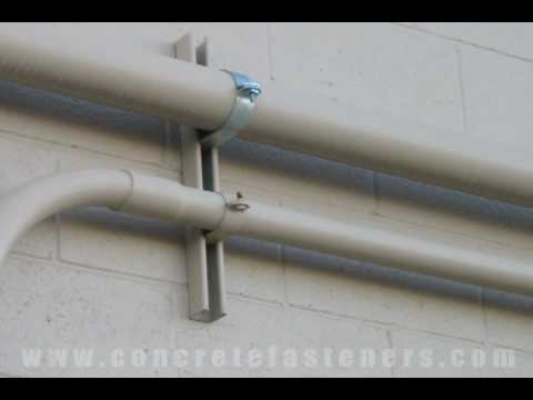 Sleeve Anchors for Attaching Conduit to a Block Wall