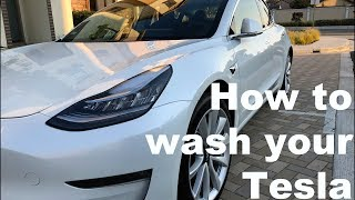 How to wash your Tesla Model 3 (S or X) (2 Bucket Rinseless System)