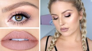 hair makeup skin tutorial soft daytime smokey eye for autumn