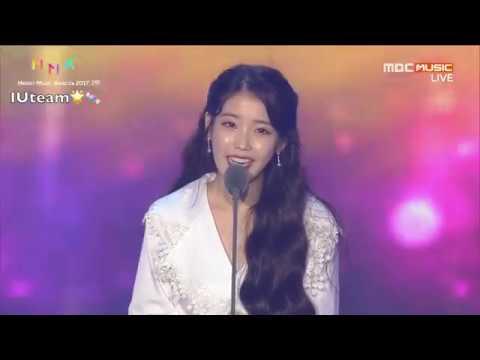 [ENG SUB] 171202 IU - Album of the Year Daesang Award Acceptance Speech @ 2017 Melon Music Awards