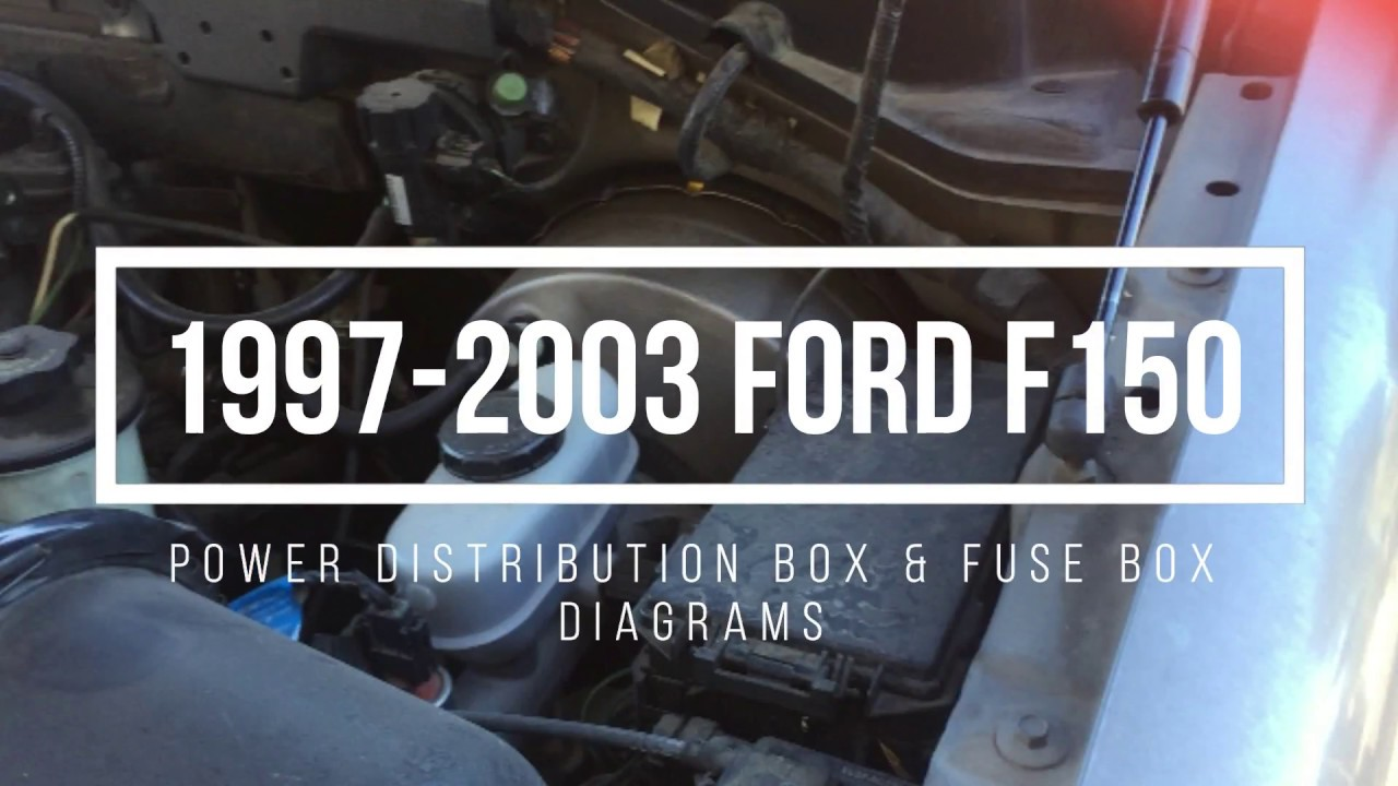 1997 2003 ford f150 fuse box locations diagrams youtube rh youtube com 2003 f150 fuse diagram under hood 2003 ford f150 fuse box diagram