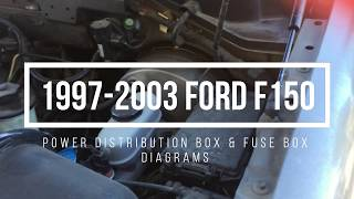 1997 2003 ford f150 fuse box locations \u0026 diagrams youtube Ford F-150 Oxygen Sensor Location