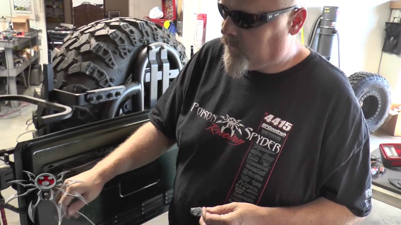 jeep jk led tail light wiring harness install poison spyder customs youtube [ 1280 x 720 Pixel ]