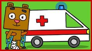 Рисовашка со Степашкой. Машина скорой помощи.