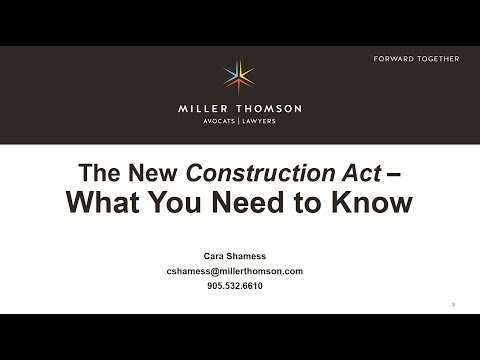 Coffee Talk - Ontario's New Construction Act (May 16, 2018)