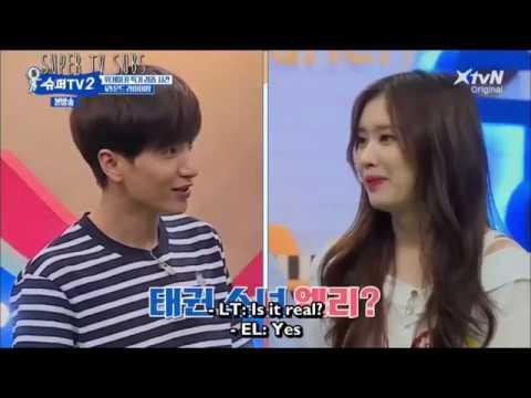 [Super Tv 2| Ep5|Eng Sub] Suju Showing Their Taekwondo Skills
