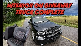 FULL CUSTOM INTERIOR ON 2002 SILVERADO GIVEAWAY TRUCK COMPLETE