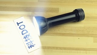 How to make SuperBright LED Flashlight 自制250流明3W LED强光手电