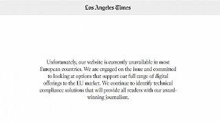 US newspaper websites blocked in EU after missing GDPR deadline
