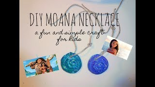 DIY Moana Necklace Craft | Mommy Daughter Craft | Easy and Simple Summer Craft
