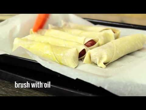 How to make cheesy dip able hot dogs