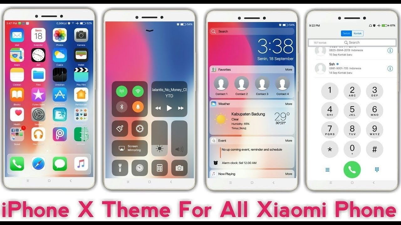Iphone x theme foe MIUI 9, MIUI 10 | iphone X Theme for all Xiaomi Phone |  Install third party theme