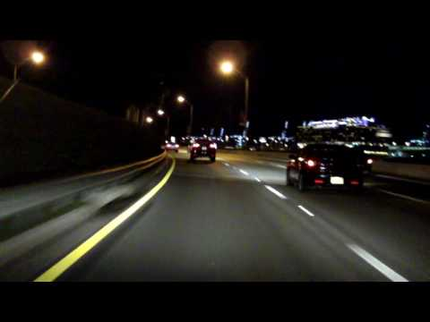 MacArthur Causeway (Interstate 395/FL 836/ FL A1A) eastbound (Night)