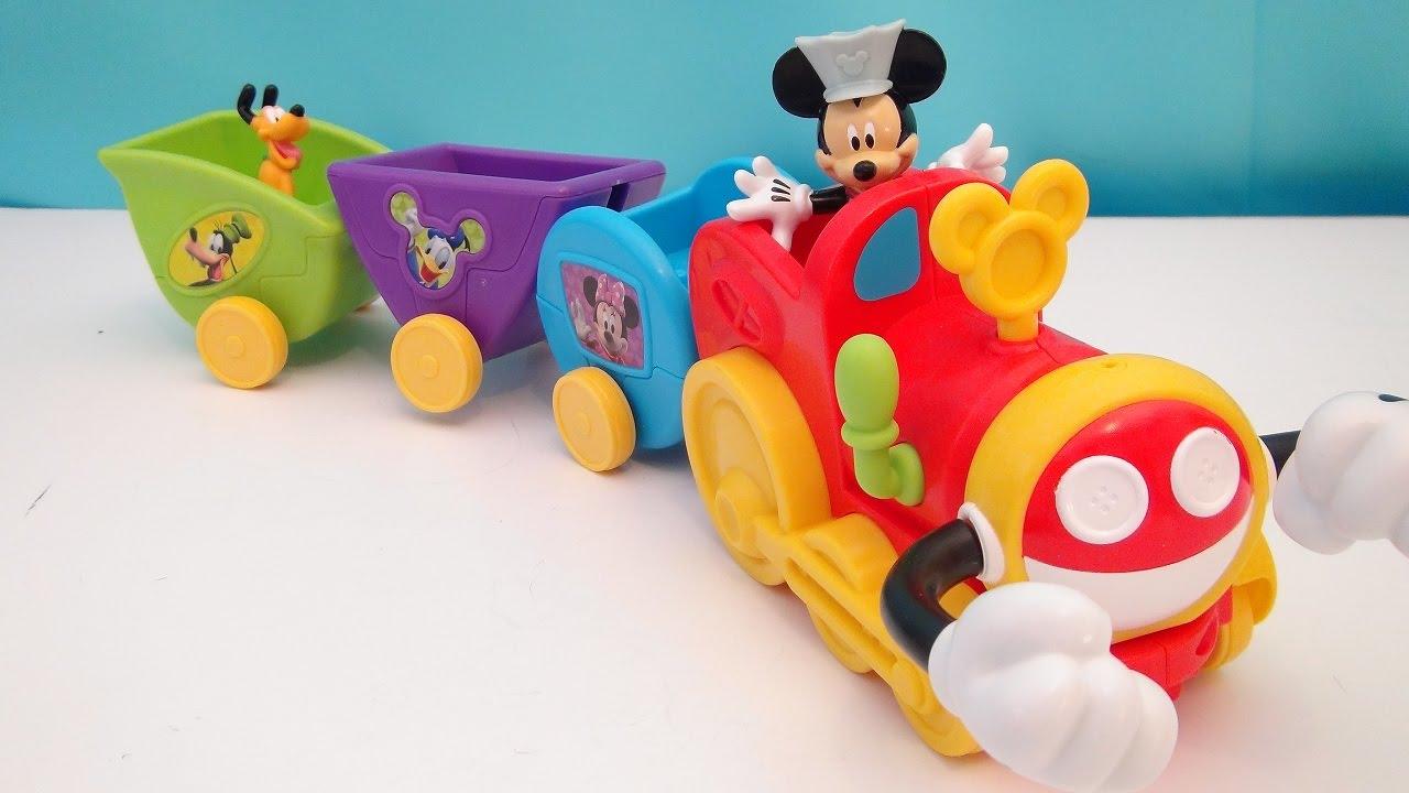 Mickey mouse clubhouse wobble bobble choo choo train for Disney mickey mouse motorized choo choo train with tracks