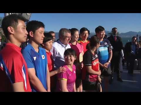 [20180623] China Xinhua Sports | IOC president Thomas Bach joined star athletes of Table tennis