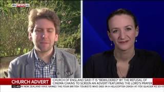 "Sky News Kate Smurthwaite & Tim Stanley debate ""Lord's Prayer""  Advert"