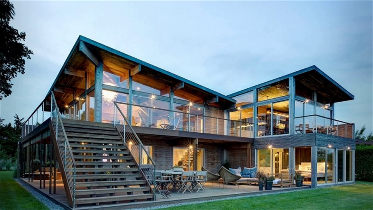 Modern wood house design architecture youtube