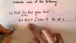 The Squeeze Theorem for Limits, Example 2