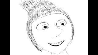Lucy. Despicable Me 2. How to draw a easy? (Люси. Мультфильм Гадкий я 2. Как нарисовать просто?)
