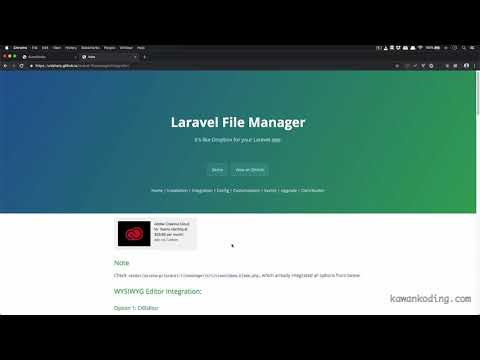 04 Implementasi Laravel File Manager di CKEditor