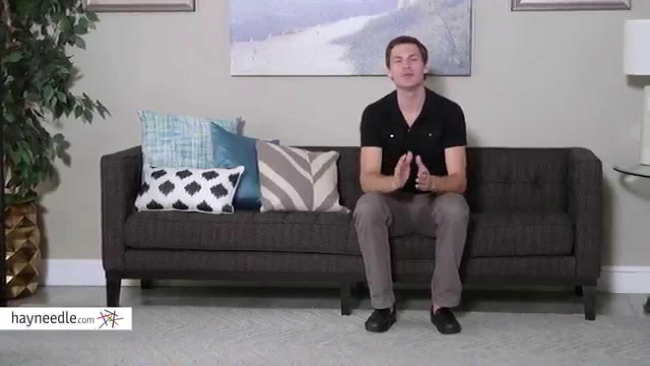 Armen Living Roxbury Sofa   Product Review Video   YouTube