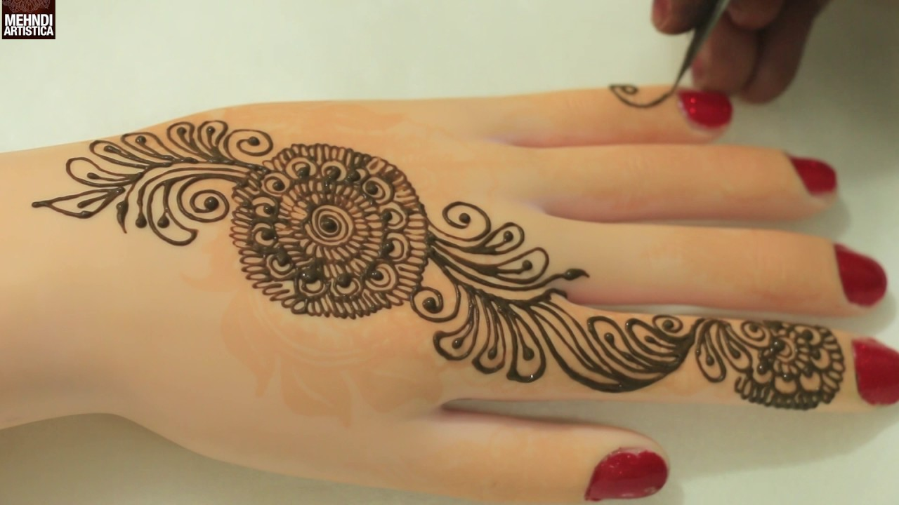 Indian Mehndi Designs For Hands Easy Simple Beautiful Bel Henna