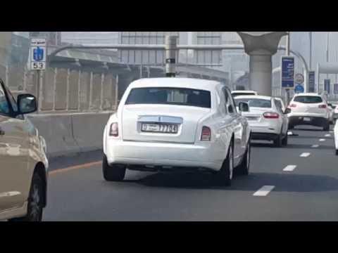 Burj Al Arab Rolls Royce Driving On Sheikh Zayed Road In Dubai 28 09 2016