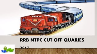 rrb ntpc cut off quaries and normalization