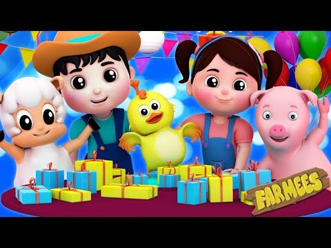 Happy Birthday Song  Party Song  Nursery Rhymes  Kids Songs  Farmees