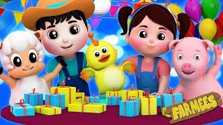 happy birthday song party song nursery rhymes kids songs by farmees