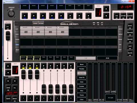 Emulation software, assign a bundle to cue lists.