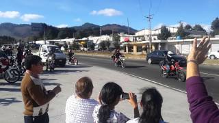 Salida de motoristas caravana del zorro en Salcajá, Quetzaltenango