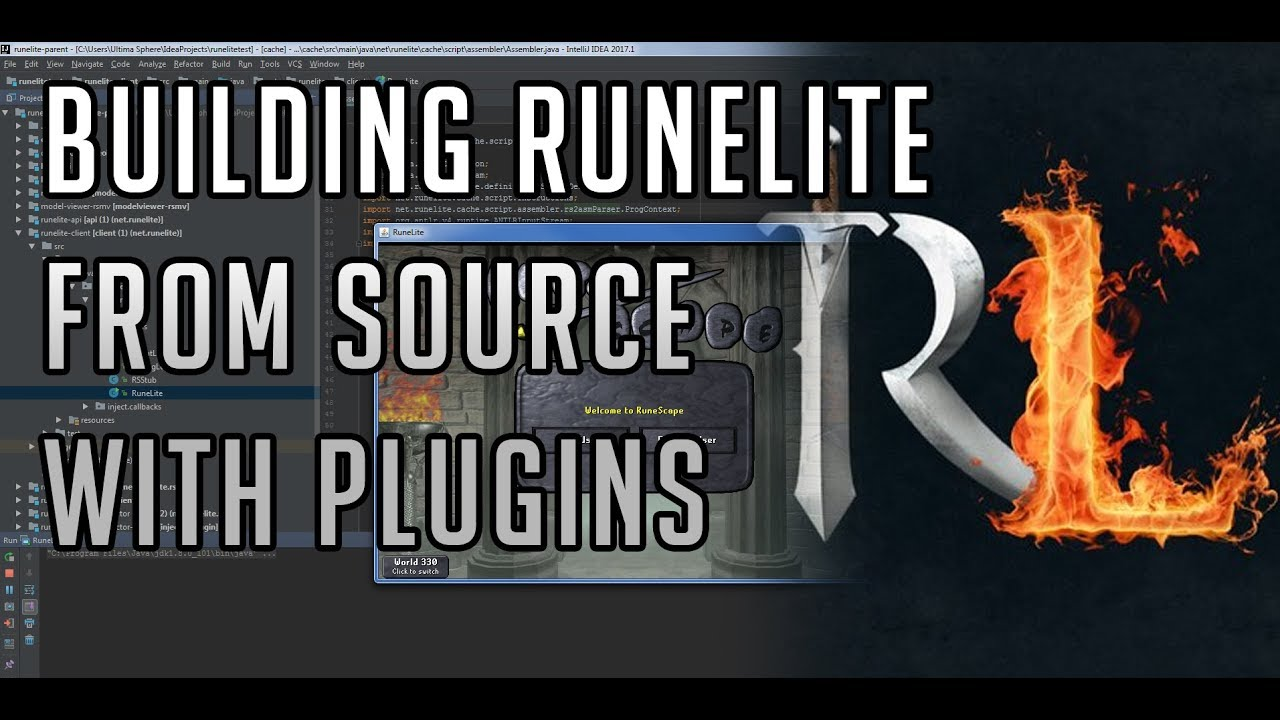 Building Runelite from source [with plugins]