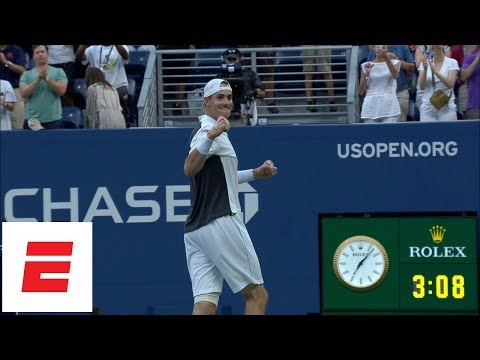 2018 US Open highlights: John Isner outlasts Milos Raonic in five sets to advance to quarterfinals