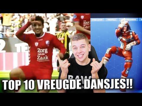 TOP 10 VOETBAL VREUGDE DANSJES!! (FORTNITE DANS)
