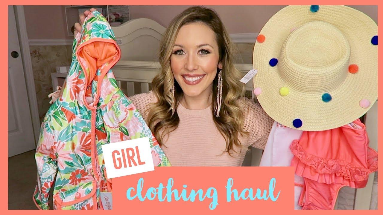 83ac54b45 HUGE BABY GIRL CLOTHING HAUL | SPRING 2018 - YouTube